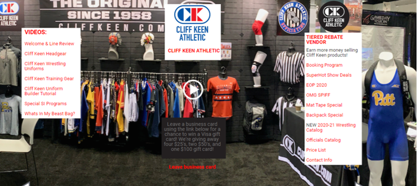Virtual exhibit booth example