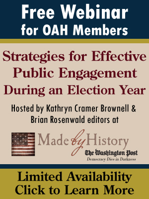 Free webinar for OAH Members: Strategies for Effective Public Engagement During an Election Year. Click here to learn more