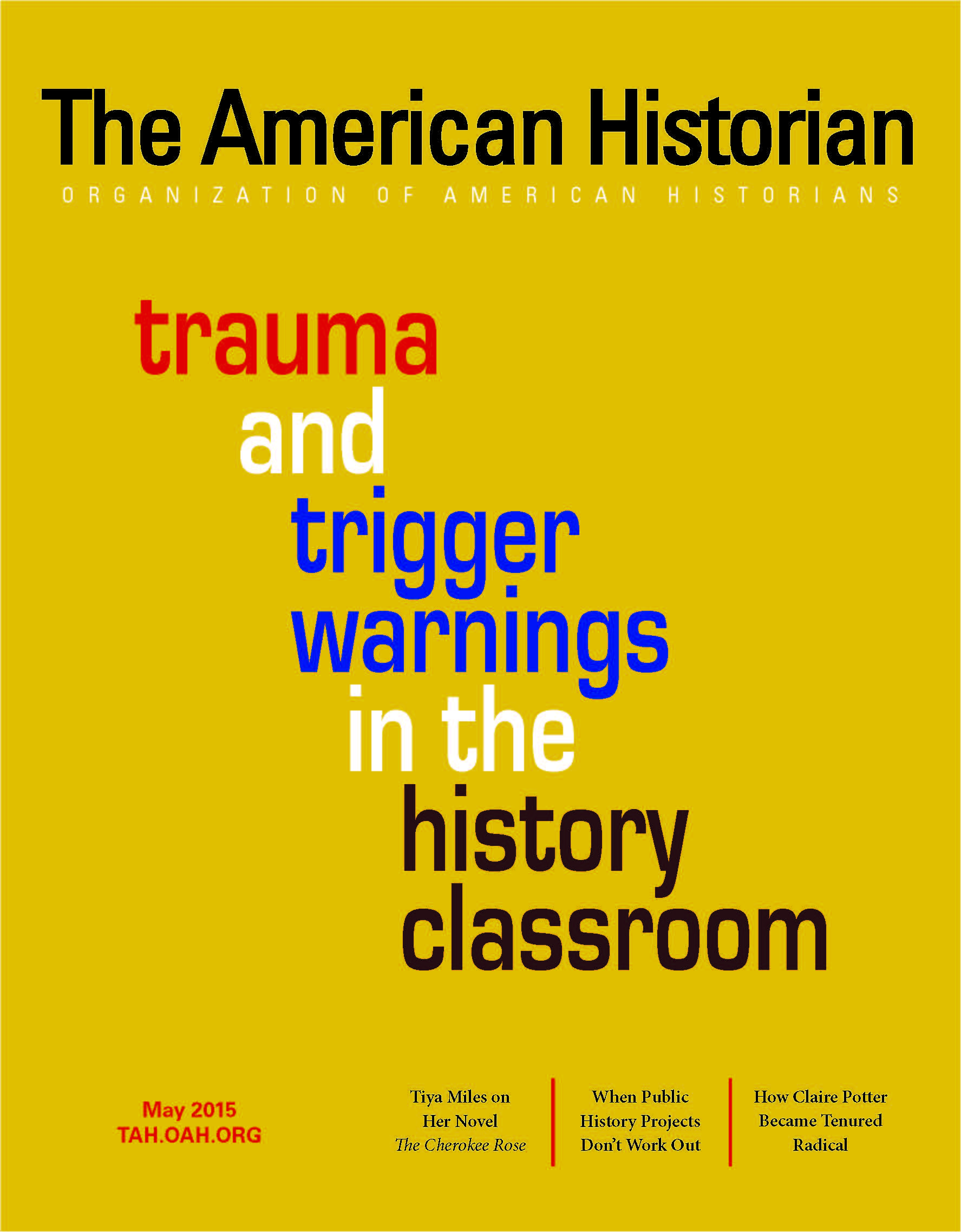 Cover image with link to The American Historian issue for May 2015