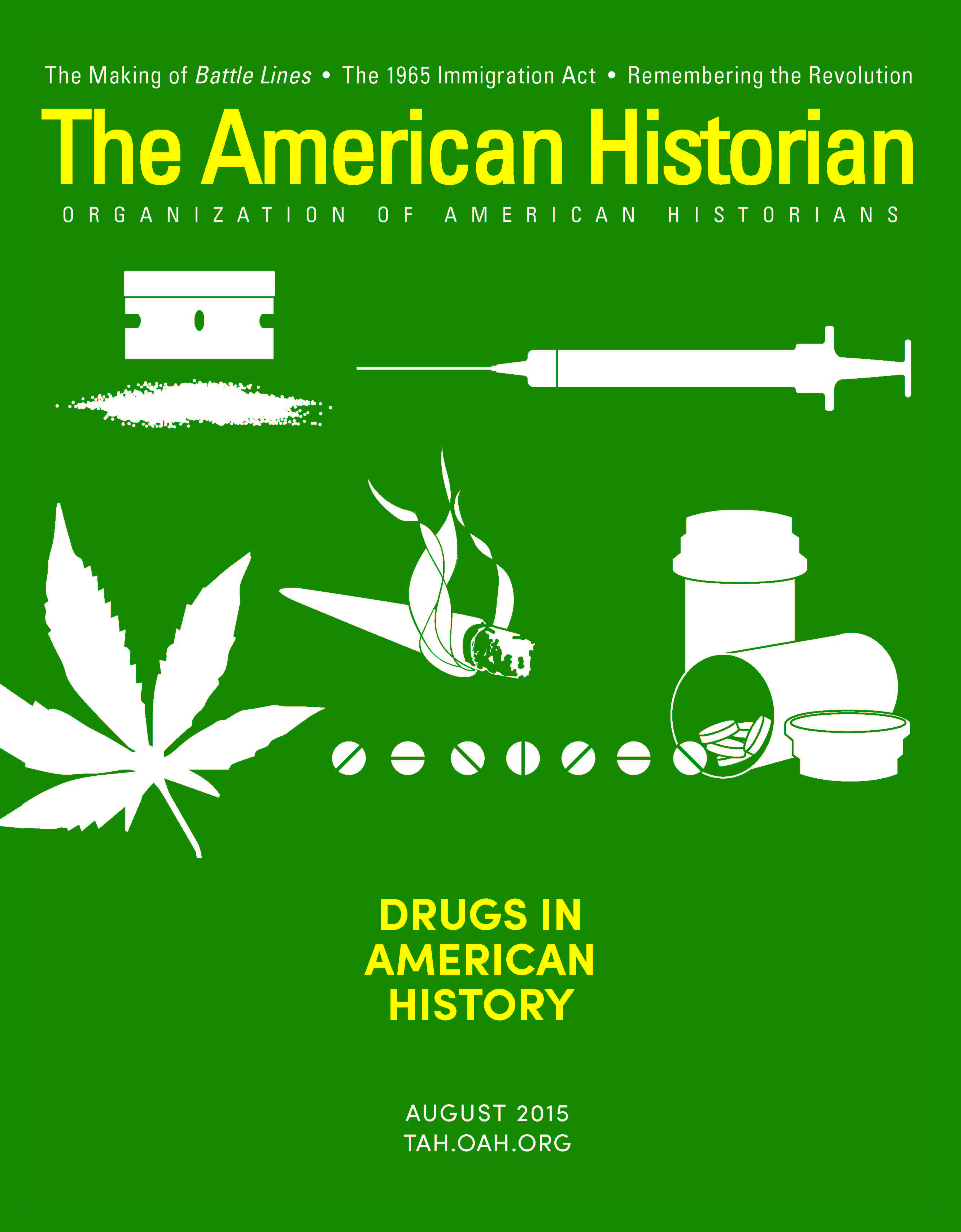 Cover image with link to The American Historian issue for August 2015