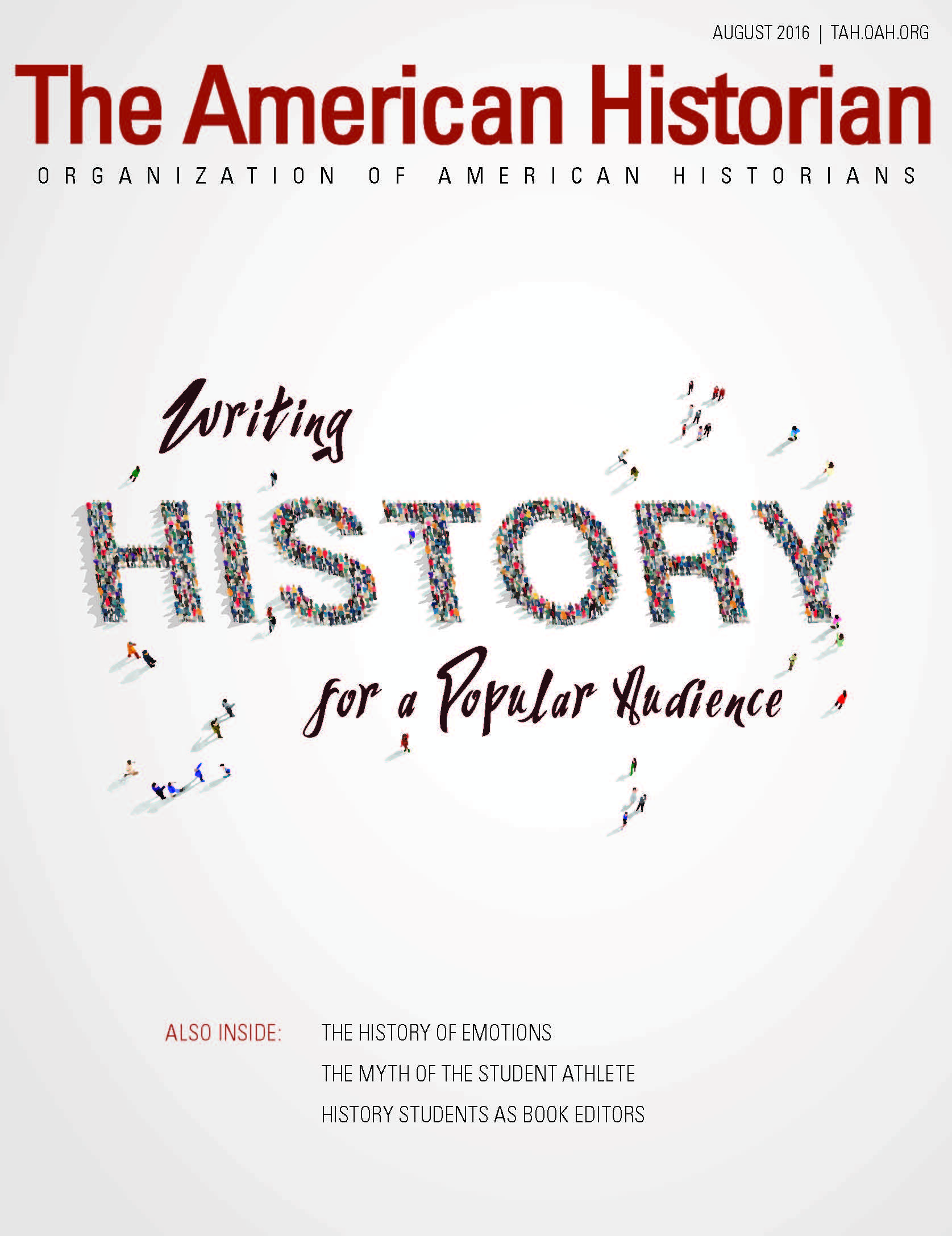 Cover image with link to The American Historian issue for Writing History for a Popular Audience