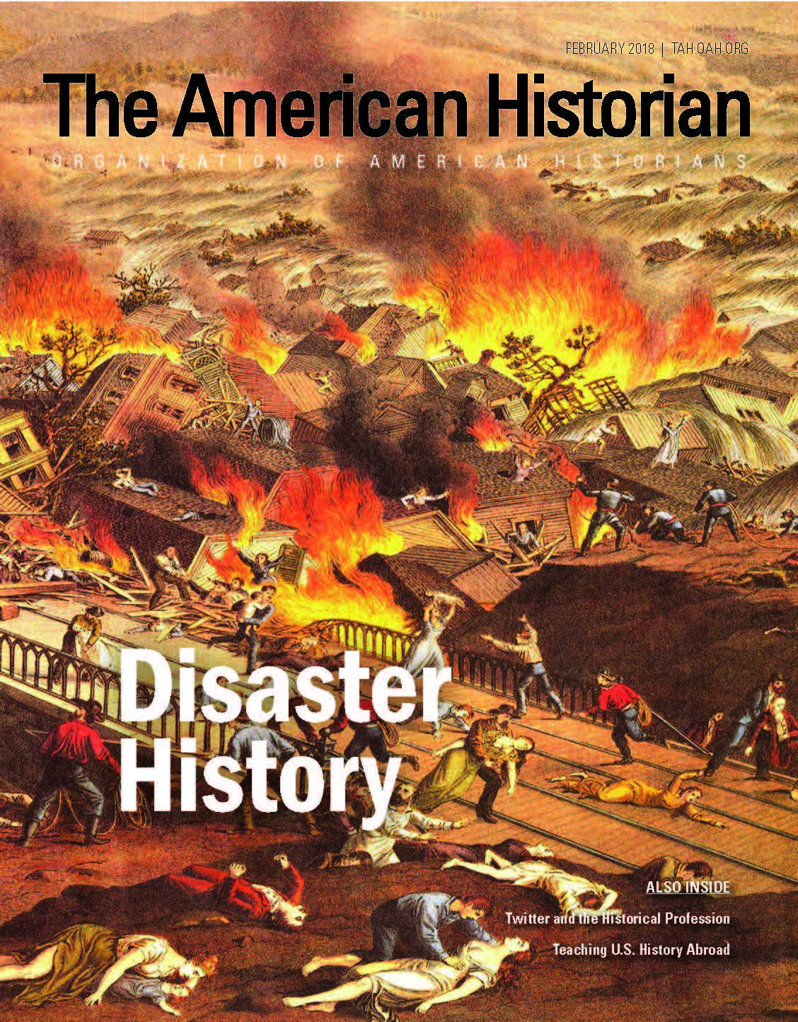 Cover image with link to The American Historian issue for Disaster History