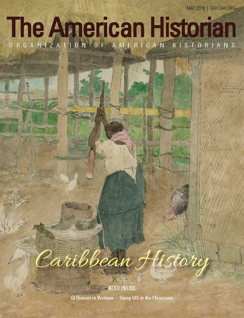 Cover image with link to The American Historian issue for Caribbean History