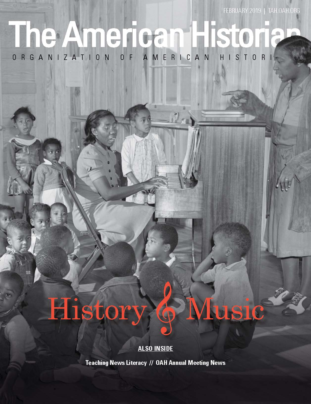 Cover image with link to The American Historian issue for History and Music
