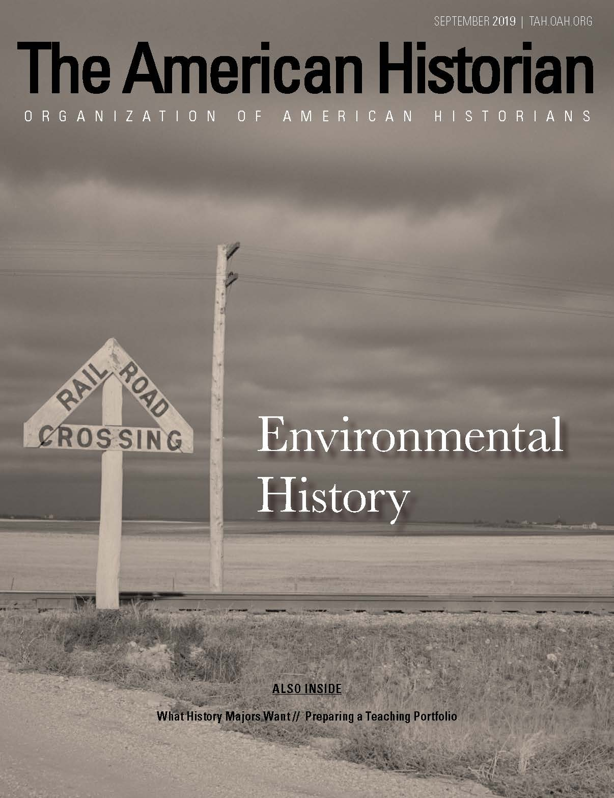 Cover image with link to The American Historian issue for Environmental History
