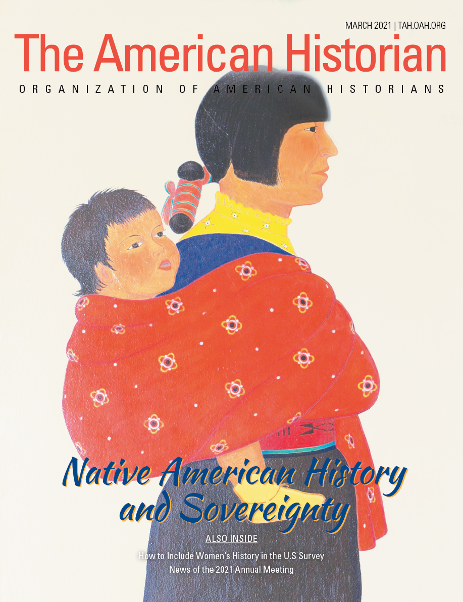Cover image with link to The American Historian issue for Native American History and Sovereignty