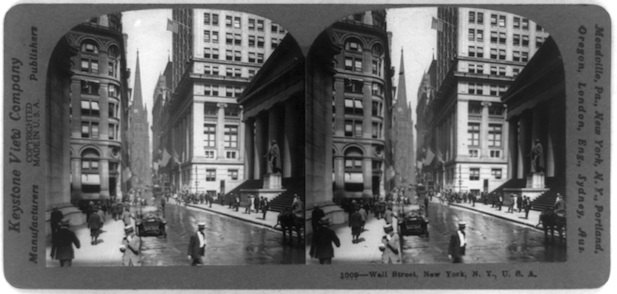Wall Street, New York, New York, circa 1917. Library of Congress, Prints and Photographs Division. LC-USZ62-96872