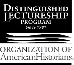 Black logo for the Organization of American Historians Distinguished Lectureship Program