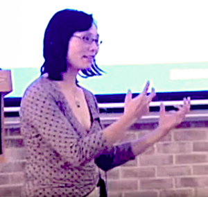 OAH Distinguished Lecturer Judy Tzu-Chun Wu speaking at Sarah Lawrence College