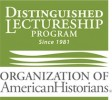 Green logo for the Organization of American Historians' Distinguished Lectureship Program