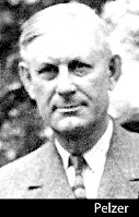 A black and white photograph of Louis Pelzer