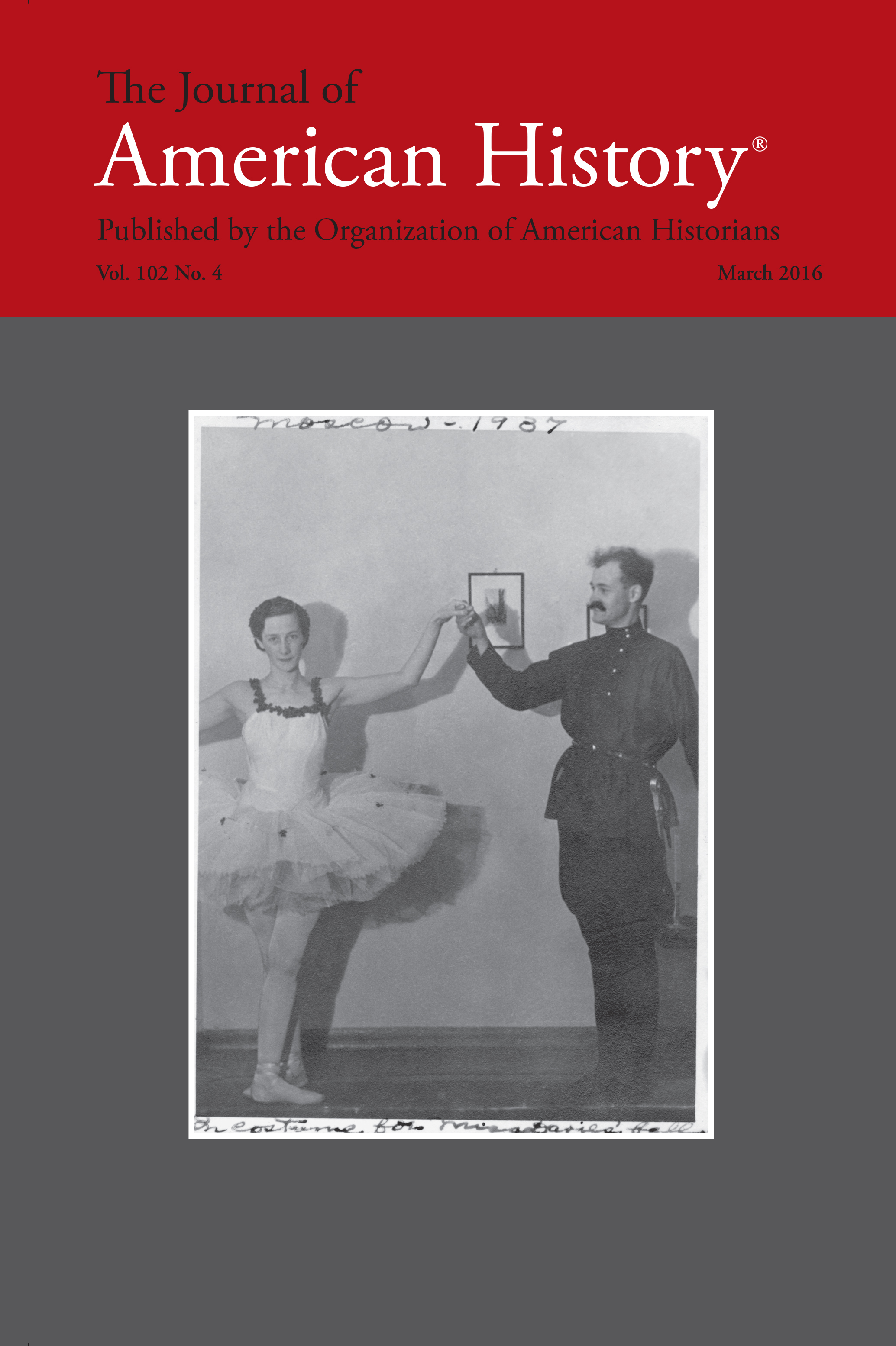 Cover of the March 2006 Journal of American History