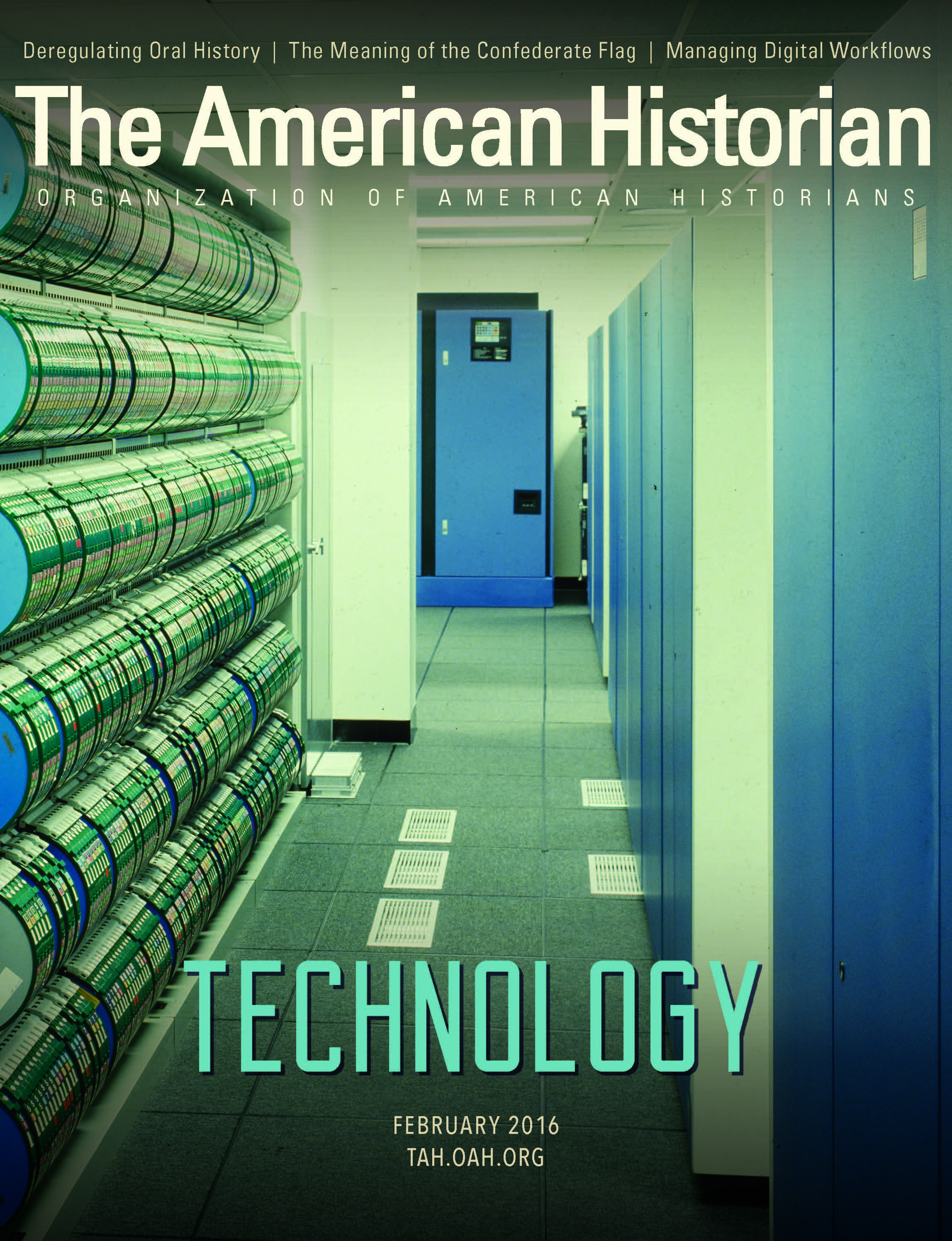 Cover of the February 2016 issue of The American Historian