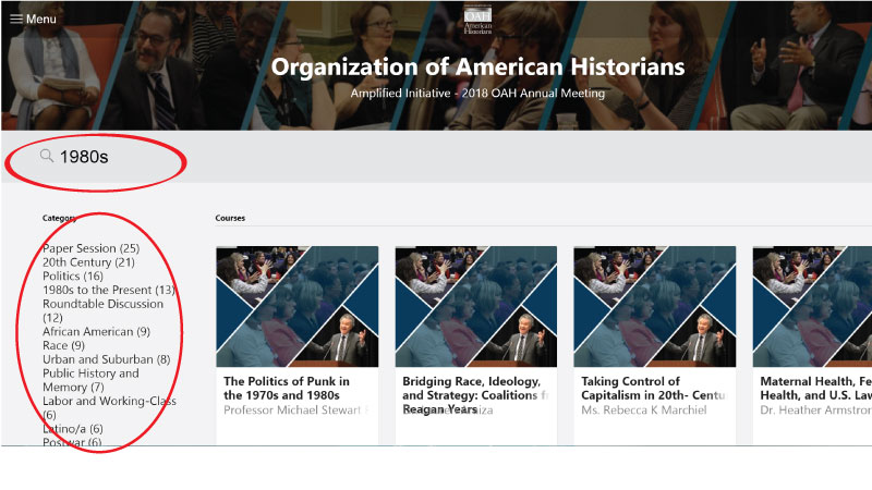 Organization Of American Historians Amplified Initiative