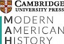 A red shield next to the words 'Cambridge University Press' in black letters with the words 'Modern American History' underneath them