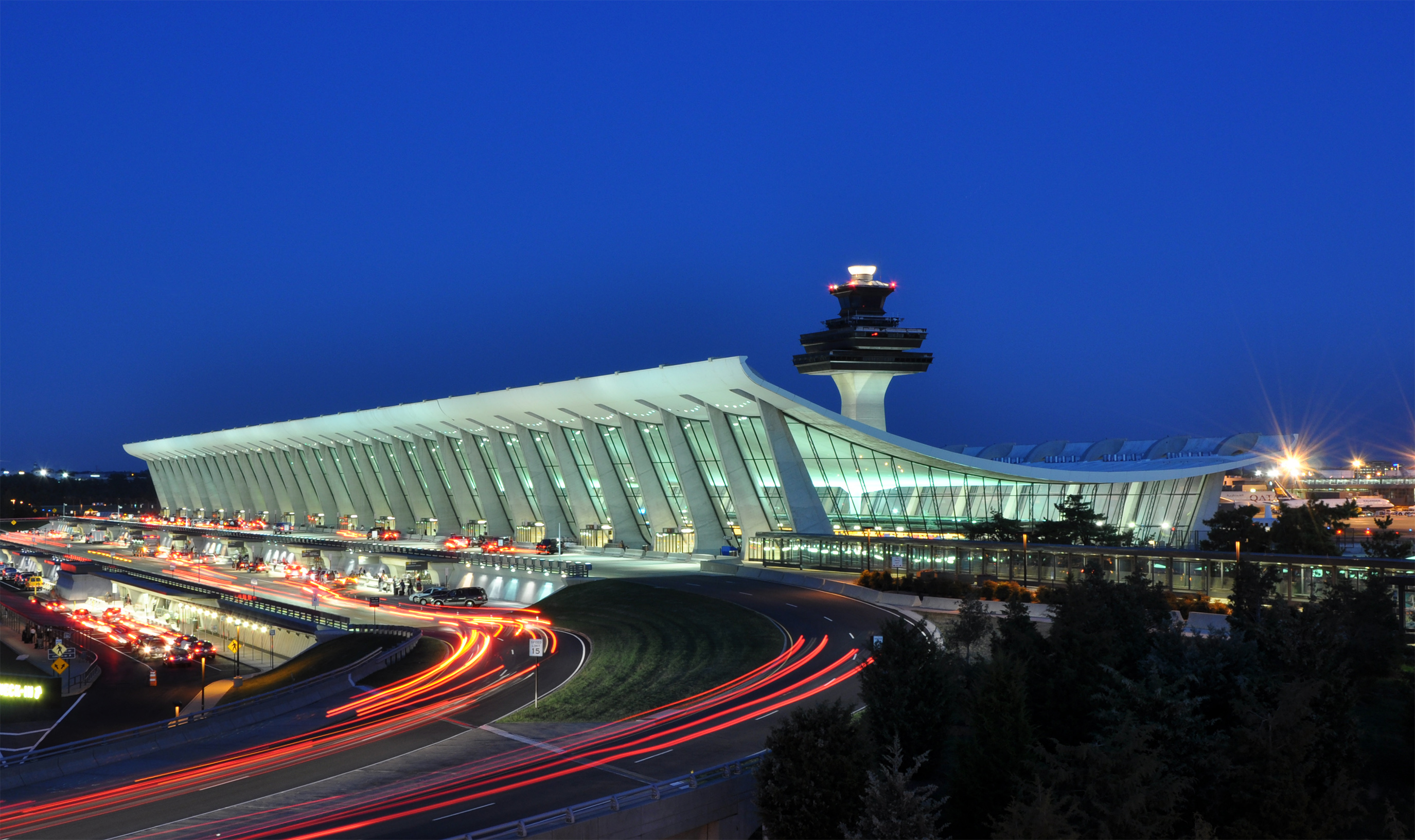 Outside view of Dulles International Airport