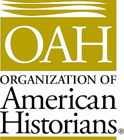 Yellow logo for the Organization of American Historians