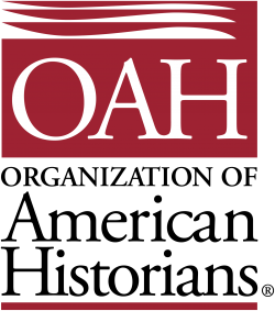Red logo for the Organization of American Historians